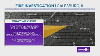 Galesburg fire under investigation as arson